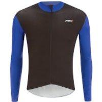 PBK Stelvio Water Repellent Long Sleeve Jersey - Navy Blue - L - Blue