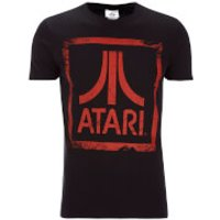 Atari Men's Square Logo T-Shirt - Black - XXL - Black - Atari Gifts