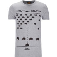 Atari Men's Space Invaders Gaming T-Shirt - Grey - XXL - Grey - Atari Gifts