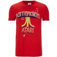 Atari Men's Asteroids Atari Vintage Logo T-Shirt - Red - XL - Red - Atari Gifts