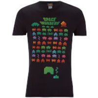 Atari Men's Space Invaders Rainbow Arcade Game T-Shirt - Black - S - Black - Atari Gifts