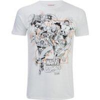 Marvel Men's Band of Heroes T-Shirt - White - XL - White
