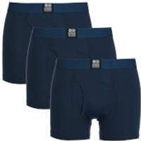 Crosshatch Men's 3 Pack Triplet Boxers - Insignia Blue - XXL - Blue - Boxers Gifts
