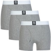 Crosshatch Men's 3 Pack Triplet Boxers - Grey - XL - Grey - Boxers Gifts