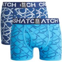 Crosshatch Men's Equalizer 2-Pack Boxers - Estate Blue/Malibu Blue - XXL - Blue - Boxers Gifts