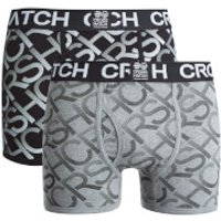 Crosshatch Men's Equalizer 2-Pack Boxers - Black/Grey Marl - XXL - Black/Grey - Boxers Gifts