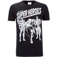 DC Comics Men's Original Superheroes T-Shirt - Black - XL - Black - Dc Comics Gifts