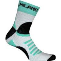 Bianchi Ornica Socks - White/Green - S-M - White/Green
