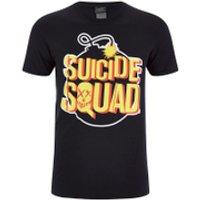 DC Comics Men's Suicide Squad Bomb T-Shirt - Black - L - Black - Dc Gifts
