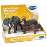 Papo Wild Animal Kingdom: Display Box Wild Animals 2 (3 Figurines)