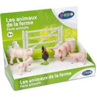Papo Farmyard Friends: Display Box Farm Animals (5 Figurines) - Farm Gifts