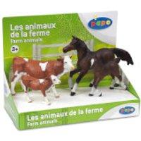 Papo Farmyard Friends: Display Box Farm Animals (4 Figurines) - Farm Gifts