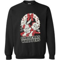 Warner Brothers Mens Bugs Bunny Christmas Sweatshirt - Black - M - Black