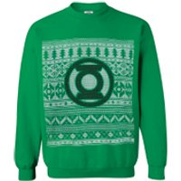 DC Comics Men's Green Lantern Christmas Fairisle Sweatshirt - Green - XXL - Green