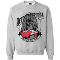 Star Wars Mens Chewbacca Socks Christmas Sweatshirt - Grey Marl - XL