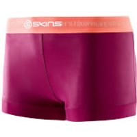 Skins DNAmic Womens Booty Shorts - Mulberry - S - Red