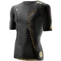 Skins DNAmic Mens Short Sleeve Top - Black - XL - Black