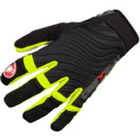 Castelli CW 6.0 Cross Gloves - Black/Yellow Fluo - M - Black/Yellow Fluo