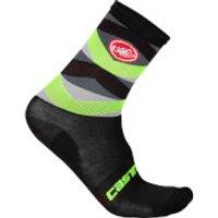 Castelli Fatto 12 Socks - L-xl - Black/yellow Fluo