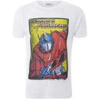 Transformers Men's Optimus Prime T-Shirt - White - L - White - Transformers Gifts