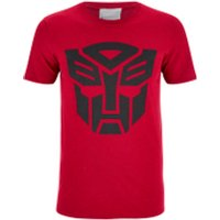 Transformers Men's Transformers Black Emblem T-Shirt - Red - L - Red - Transformers Gifts