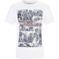 Transformers Men's Comic Strip T-Shirt - White - L - White - Transformers Gifts