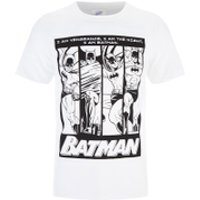 DC Comics Men's Batman I am Batman T-Shirt - White - XXL - White - Batman Gifts