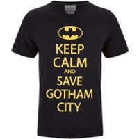 DC Comics Men's Batman Keep Calm T-Shirt - Black - M - Black - Batman Gifts