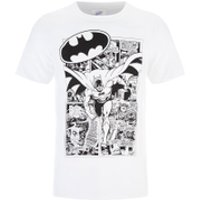 DC Comics Men's Batman Comic Strip T-Shirt - White - S - White