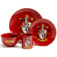 Harry Potter Gryffindor 4 Piece Ceramic Dinner Set - Gryffindor Gifts