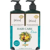 Akin Rice Aminos & Wheat Protein Shampoo & Macadamia & Wheat Protein Conditioner Duo 500ml