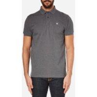 Hackett London Men's Tailored Logo Polo Shirt - Charcoal - S - Grey
