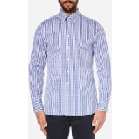 Hackett London Mens Classic Check Shirt - Blue - M - Blue