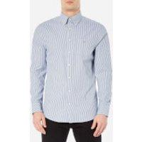 GANT Mens Indigo Long Sleeve Shirt - Dark Indigo - XL - Blue