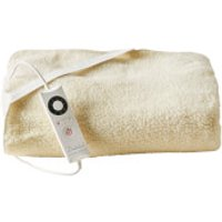 Dreamland 16296 Sleepwell Intelliheat Soft Fleece Fitted Electric Under Blanket - Cream - Double