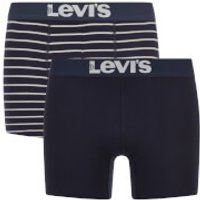 Levis Mens 200SF 2-Pack Vintage Stripe Boxers - Mid Denim - S - Blue