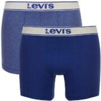 Levis Mens 200SF 2-Pack Vintage Heather Boxers - Sodalite Blue - M - Blue