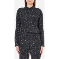 Ganni Women's Rosemont Crepe Dotted Shirt - Dotted Eclipse - UK 8/EU 36 - Blue