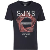 Smith & Jones Mens Colossus V Neck T-Shirt - Navy Blazer - S