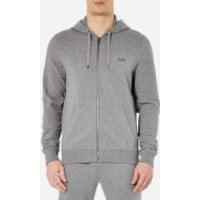 Michael Kors Mens Stretch Sweat Full Zip Hoody - Ash Melange - L - Grey