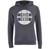 Jack & Jones Mens Core Trevor Graphic Hoody - Ombre Blue - M