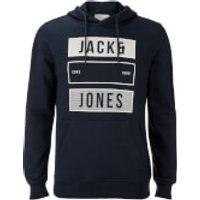 Jack & Jones Mens Core Trevor Graphic Hoody - Sky Captain - S