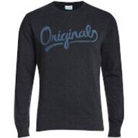 Jack & Jones Mens Originals Anything Graphic Sweatshirt - Total Eclipse - M
