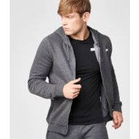 Tru-Fit Zip Up Hoodie - S - Charcoal