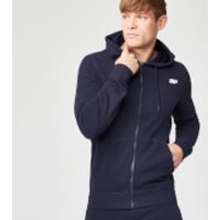 Tru-Fit Zip Up Hoodie - S - Navy
