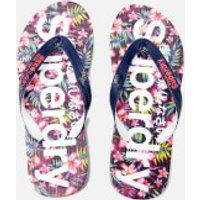 Superdry Women s Flip Flops   Eclipse Navy Fluro Pink   S UK 3 4   Navy