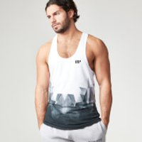 Digital Geo Print Stringer Vest - XXL - Black
