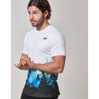 Digital Geo Print T-Shirt - XXL - Blue