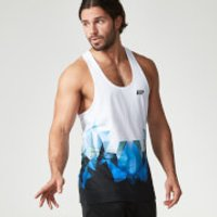 Digital Geo Print Stringer Vest - XXL - Blue