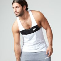 Stripe Stringer Vest - XL - White